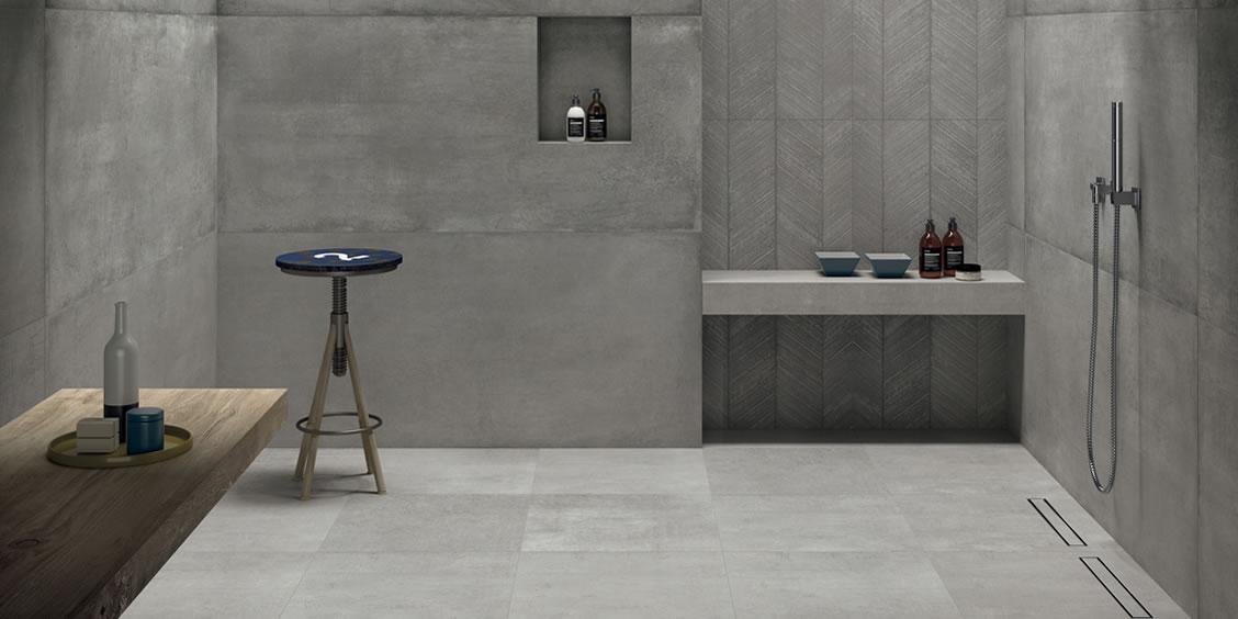 gres porcellanato effetto cemento