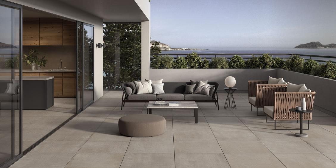 Pavimenti per terrazzo in gres porcellanato