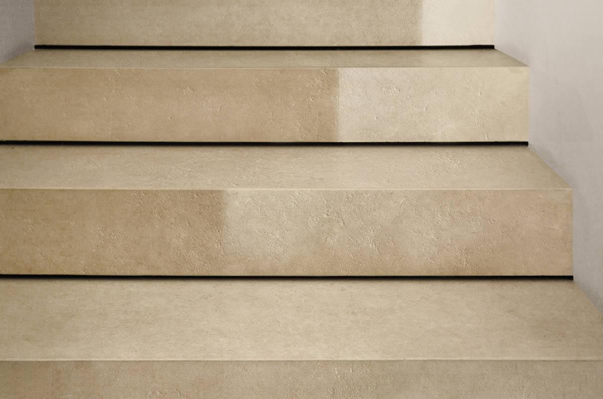 Rivestimenti Scale Interne Gres Porcellanato progettazione scale - kronos ceramiche - pavimenti e