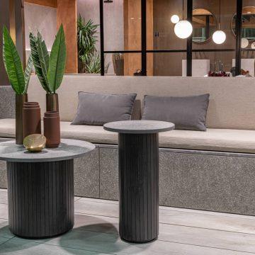tavolini da esterno su misura in gres porcellanato