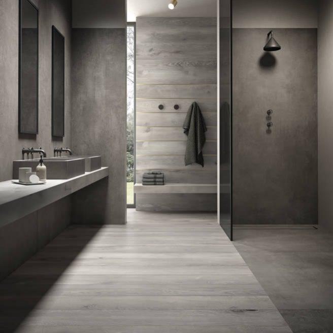 gres porcellanato bagno effetto legno