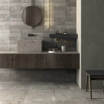 gres porcellanato effetto pietra per bagno