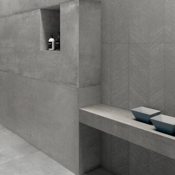 parete effetto cemento decoro lisca
