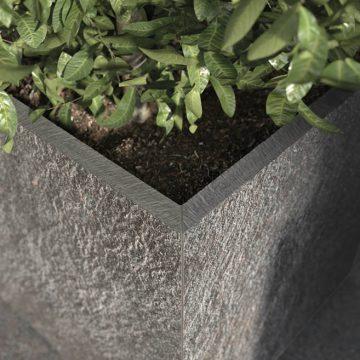 fioriera in gres porcellanato effetto pietra