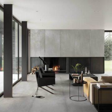pavimento effetto cemento grigio