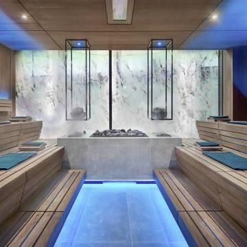 rivestimenti gres per sauna hotel