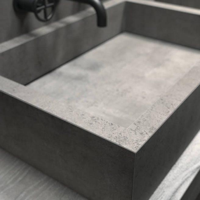 lavabo su misura in gres porcellanato