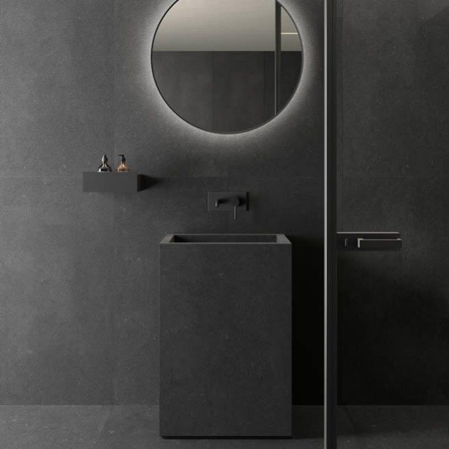 piastrelle bagno nere