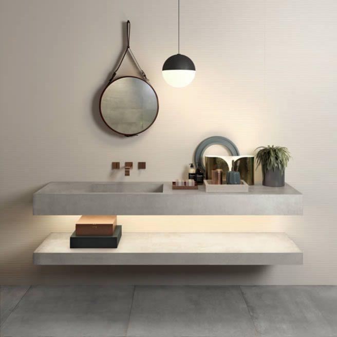 lavandino bagno effetto cemento