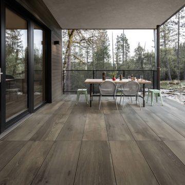 Pavimentazione per esterni effetto legno
