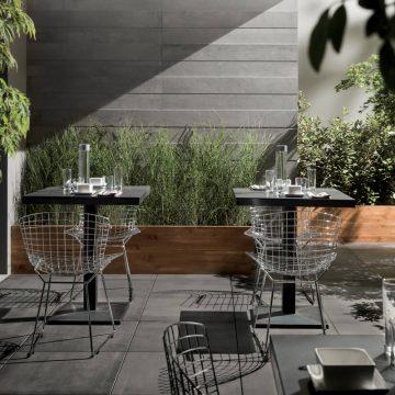 Pavimentazione per esterno effetto cemento