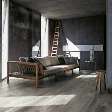 gres porcellanato effetto legno grigio