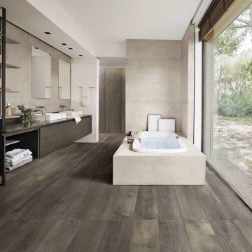pavimento bagno effetto legno