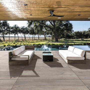 Pavimentazione da esterno effetto legno
