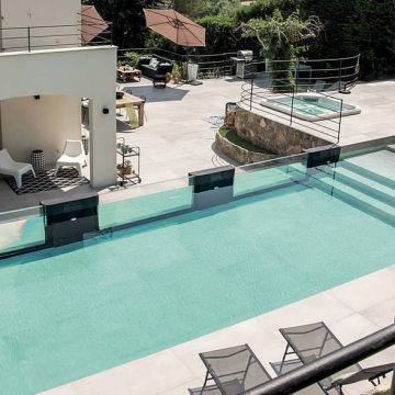 pavimento piscina effetto cemento