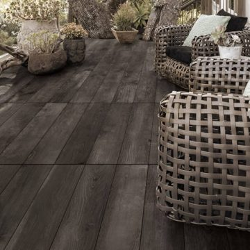 Piastrelle per terrazzi effetto legno