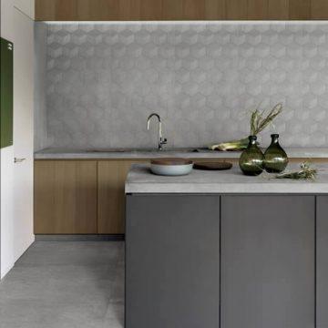 piastrelle cucina effetto cemento