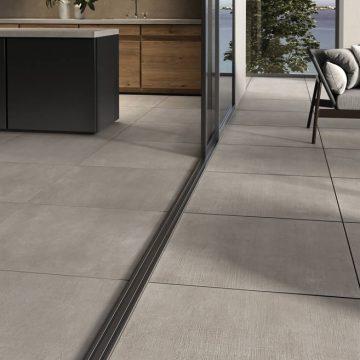 Piastrelle per terrazzi e interni effetto cemento