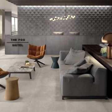 piastrelle hotel effetto cemento