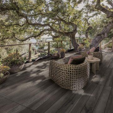 Pavimenti per terrazze esterne effetto legno