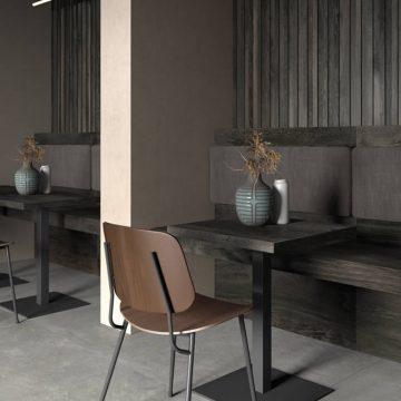 tavolo bar su misura effetto legno